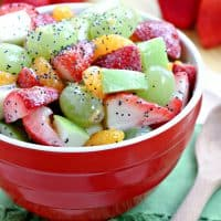 Fresh Fruit Salad with Honey Poppy Seed Dressing