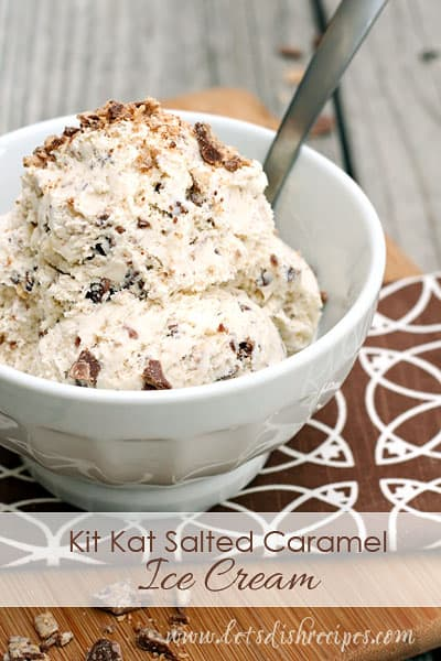 Kit Kat Salted Caramel Ice Cream