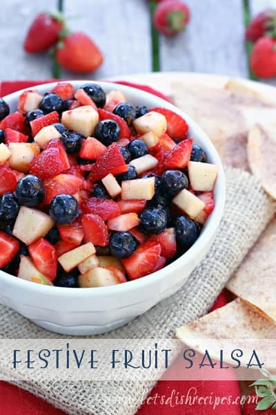 Festive Fruit Salsa {Let's Dish}
