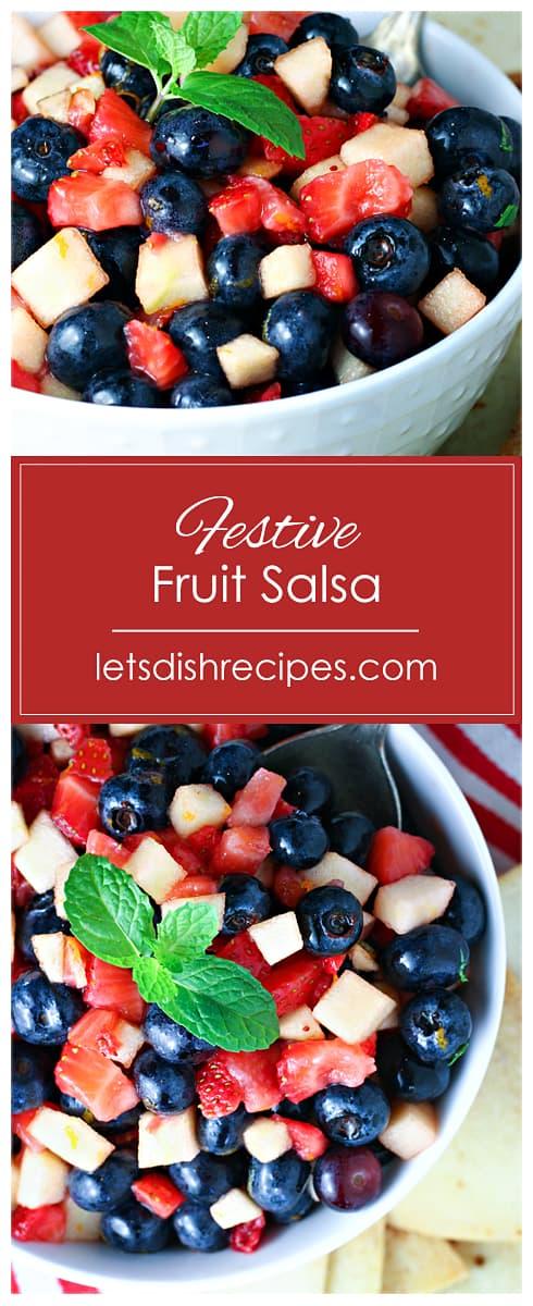 Festive Fruit Salsa with Homemade Cinnamon Chips