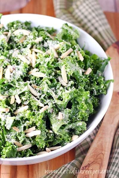 Kale and Almond Salad with Lemon and Parmesan