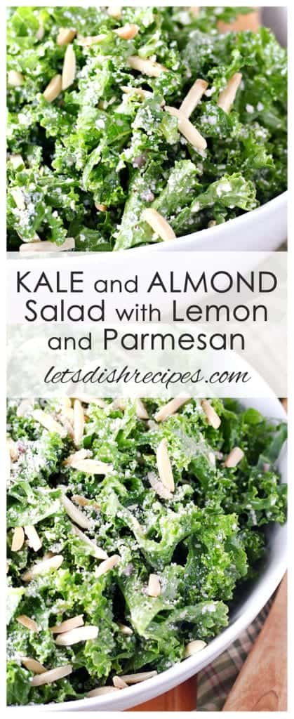 Kale and Almond Salad with Lemon and Parmesan