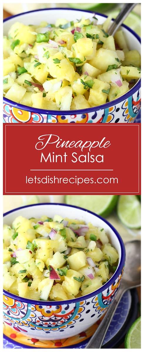 Fresh Pineapple Mint Salsa