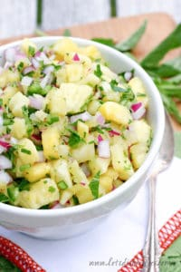 Fresh Pineapple Mint Salsa