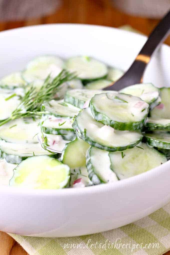 Creamy Dill Cucumber Salad