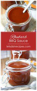 Roasted Rhubarb Barbecue Sauce