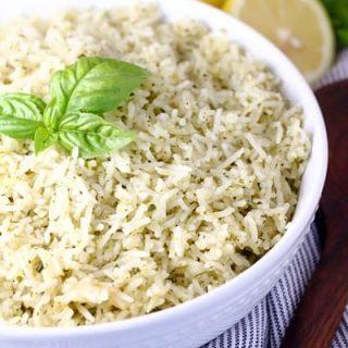 Lemon Parmesan Pesto Rice