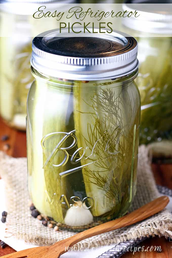 Easy Refrigerator Pickles
