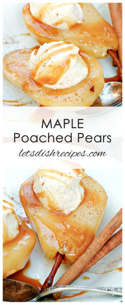 Maple Poached Pears with Maple Cinnamon Mascarpone