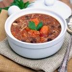 Sweet Potato, Quinoa and Chicken Chili (Slow Cooker)