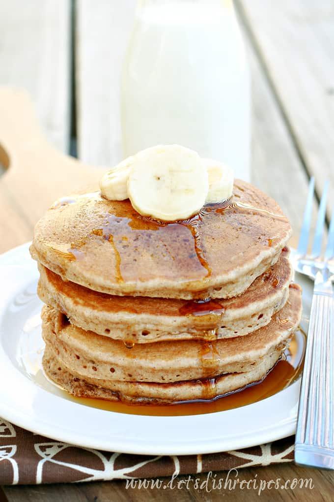 Banana Bread Pancakes | Let's Dish Recipes