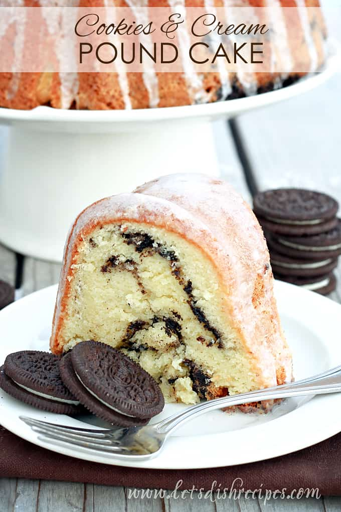 Cookies and Cream Pound Cake
