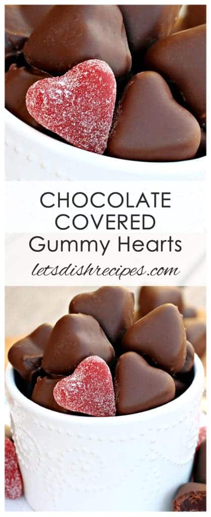 Chocolate Covered Gumdrop Hearts