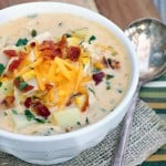 Roasted Poblano Chicken and Corn Chowder