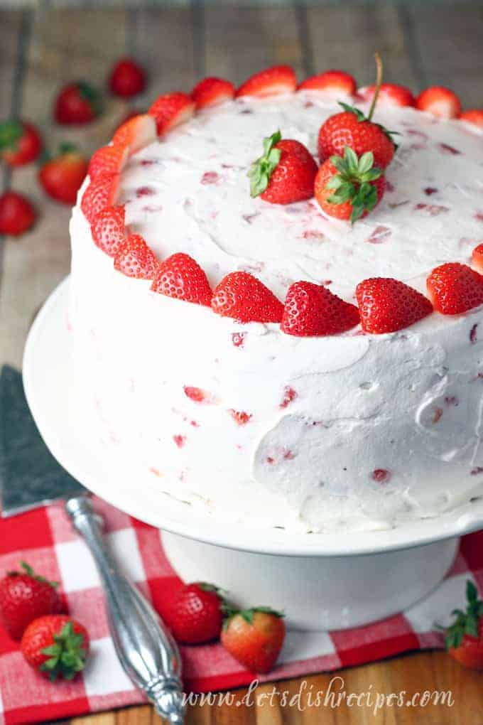 Strawberries Cream Cake Let S Dish Recipes