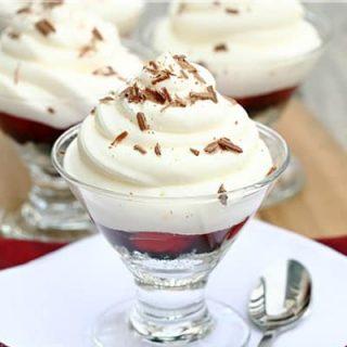 White Chocolate Mousse Cherry Parfait