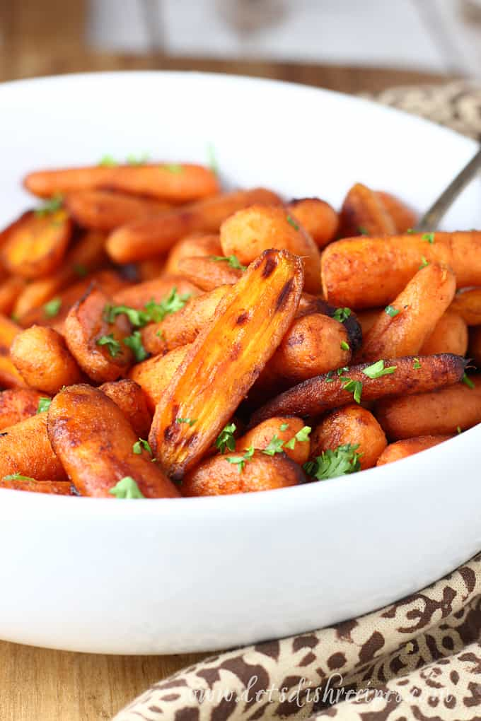 Brown Sugar Balsamic Roasted Baby Carrots