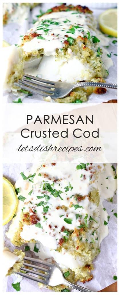 Panko Parmesan Crusted Cod with Lemon Cream Sauce