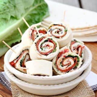Italian Sub Sandwich Tortilla Pinwheels