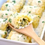Chicken Spinach Lasagna Rolls