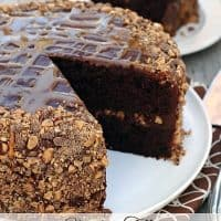 Chocolate Caramel Toffee Cake
