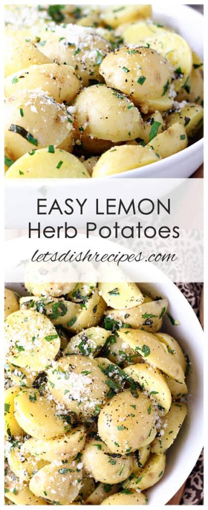 Easy Lemon Herb Potatoes