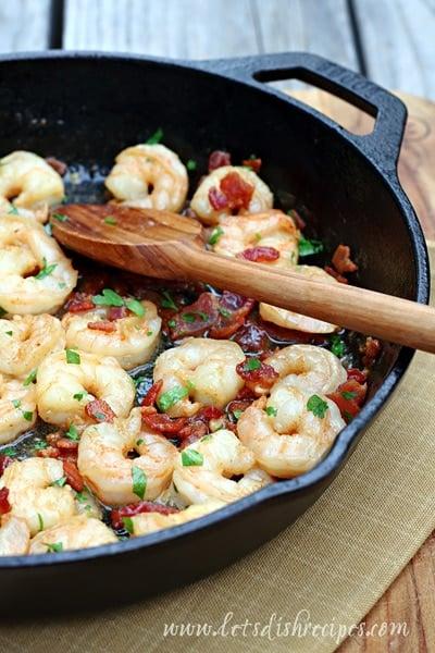 Bacon Shrimp Scampi with Pasta