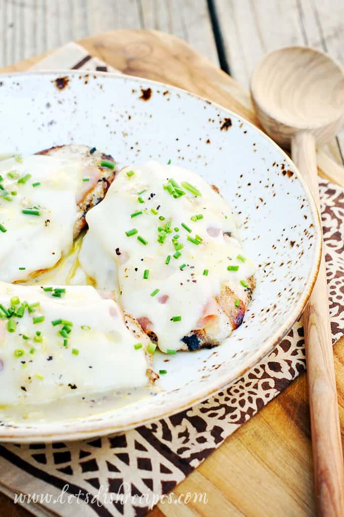 Grilled Chicken Cordon Bleu with Dijon Vinaigrette