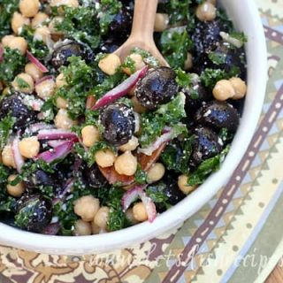 Kale, Olive and Chickpea Salad