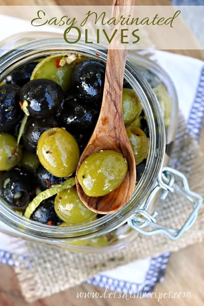 Easy Marinated Olives