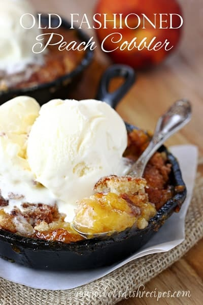 Old Fashioned Peach Cobbler.