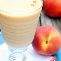 Peaches n' Cream Greek Yogurt Slush