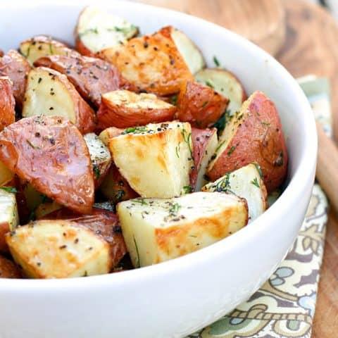 Roasted Garlic, Dill & Lemon Potatoes