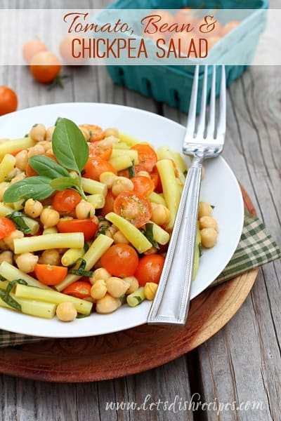 Tomato Bean and Chickpea Salad