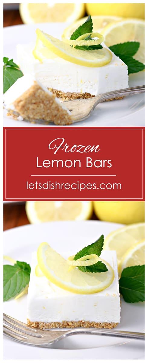 Frozen Lemon Bars