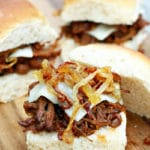 Chipotle Brisket Sliders with Caramelized Onions