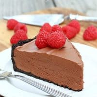 Dark Chocolate Cream Pie