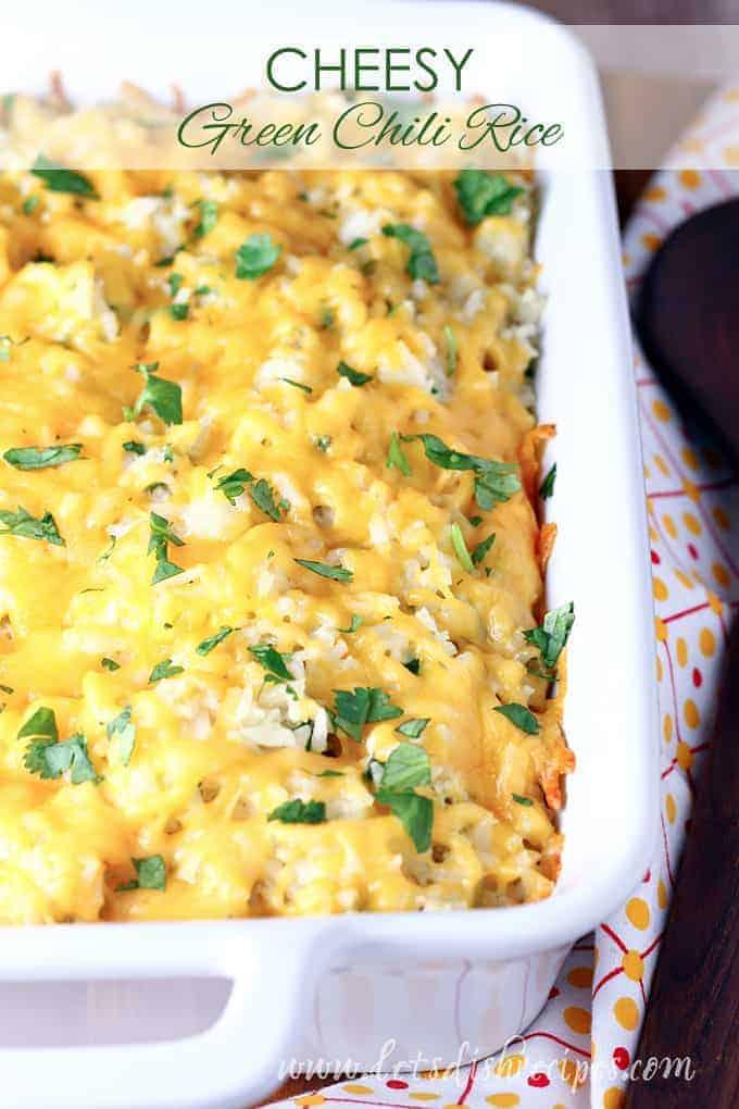 Cheesy Green Chili Rice
