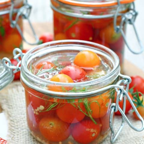 Quick Pickled Cherry Tomatoes