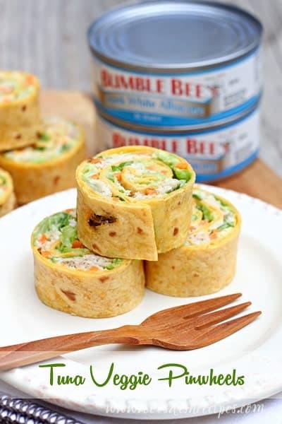 Tuna Veggie Pinwheels
