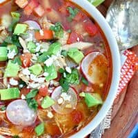 Slow Cooker Chicken Posole