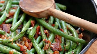 Skillet Green Beans & Bacon