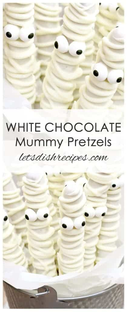 White Chocolate Mummy Pretzels