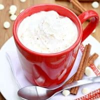Creamy Slow Cooker Pumpkin Spice Hot Chocolate
