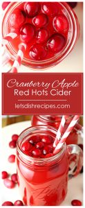 Cranberry Apple Red Hots Cider