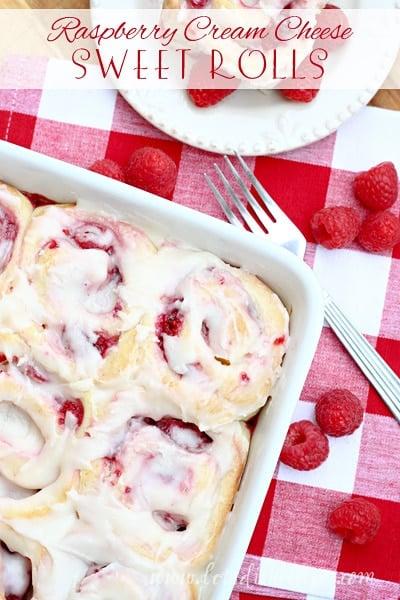 Raspberry Cream Cheese Sweet Rolls