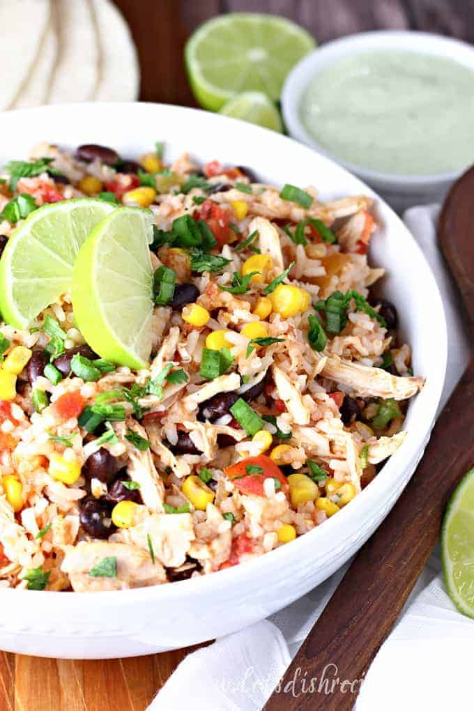 Slow Cooker Chicken Burrito Filling