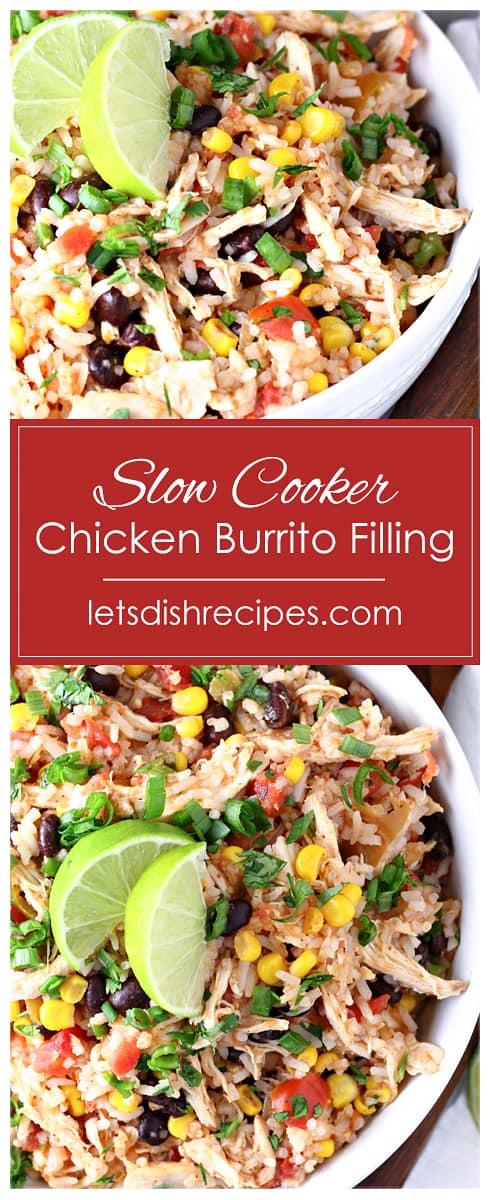 Slow Cooker Chicken Burrito Filling