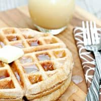 Whole Wheat Waffles with Homemade Vanilla Syrup