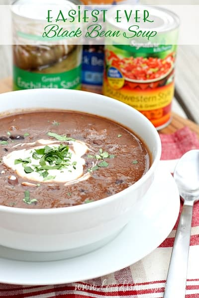 Easiest Ever Black Bean Soup